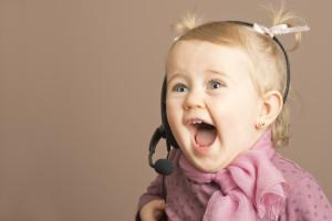 Little girl thrilled to receive happy news by phone