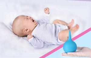 как правильно использовать клизму для новорожденного