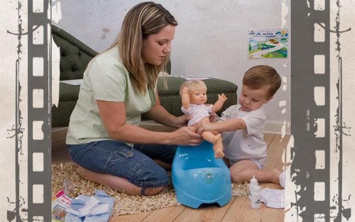 Приучение ребенка к горшку - писающий пупс