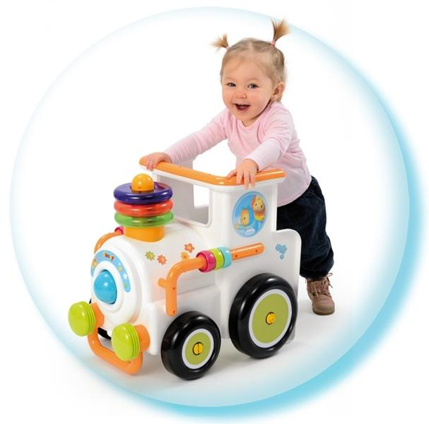 Малышка в ходунках каталке поезде Smoby Cotoons