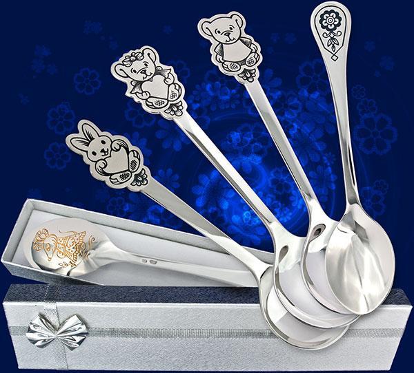 Серебряная ложка в подарок