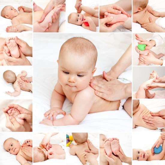 Лечебный массаж новорожденного