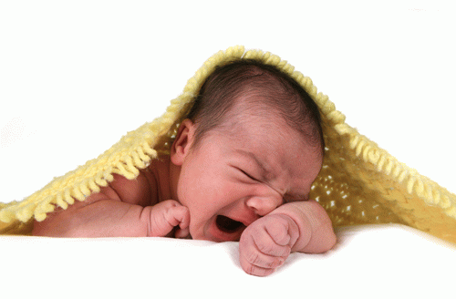 Причина плача ребенка - дискомфорт