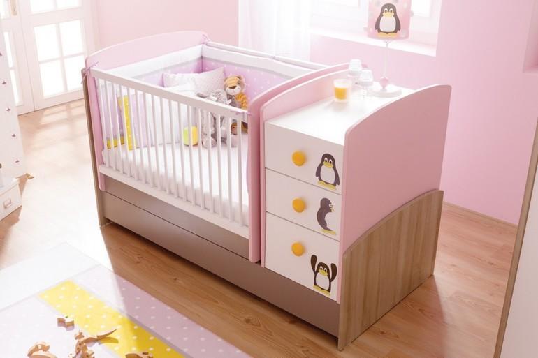 Детские кроватки для новорожденных: размер кровати для грудничков