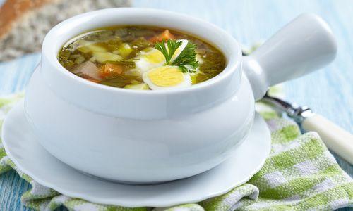 Обед для малыша: суп со щавелем